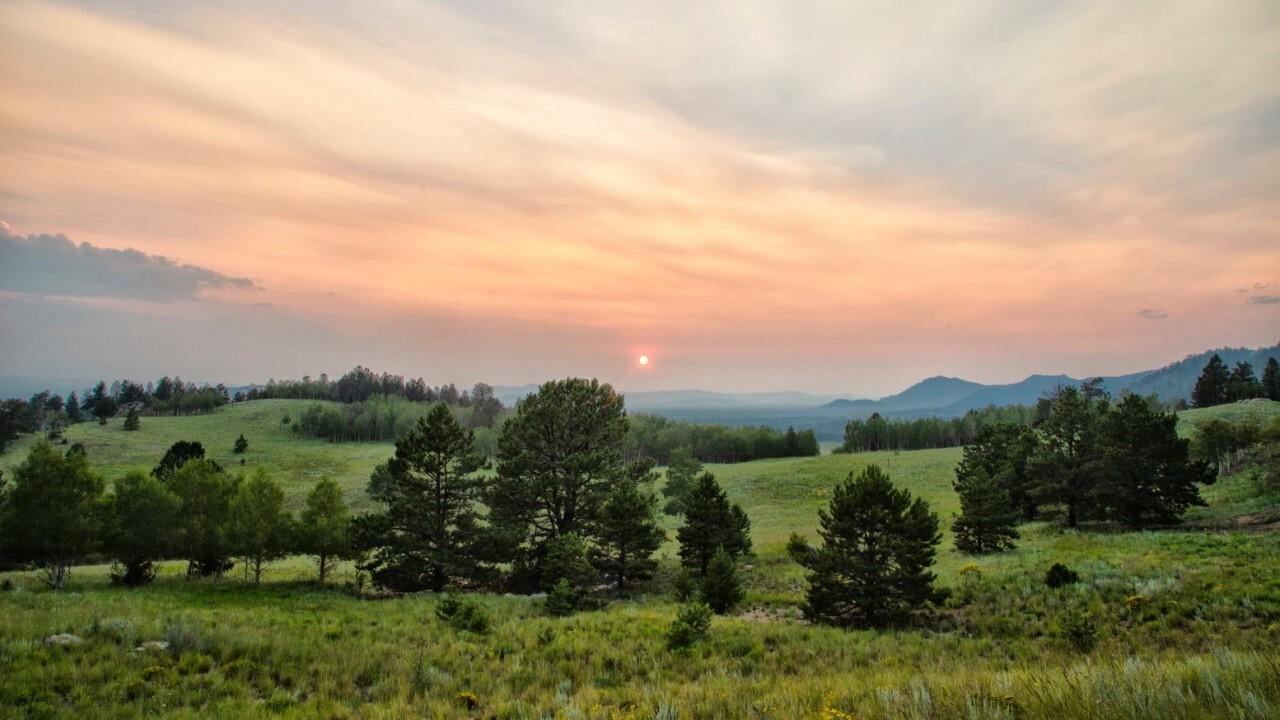 Smoky Colorado skies