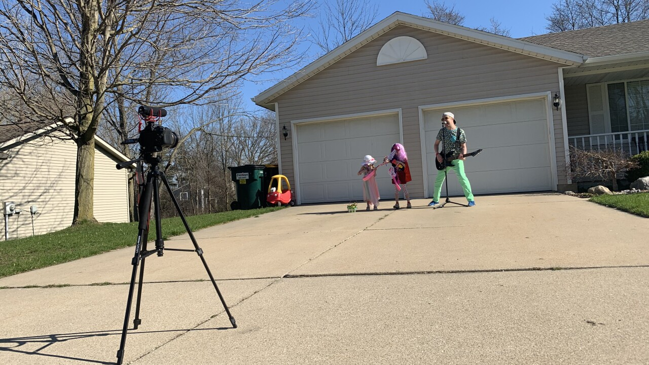 Dad creates music video with kids to spread message
