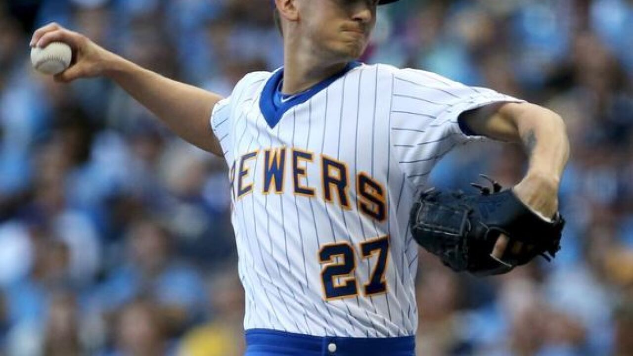 Milwaukee Brewers' Zach Davies is on pace for a strangely historic season