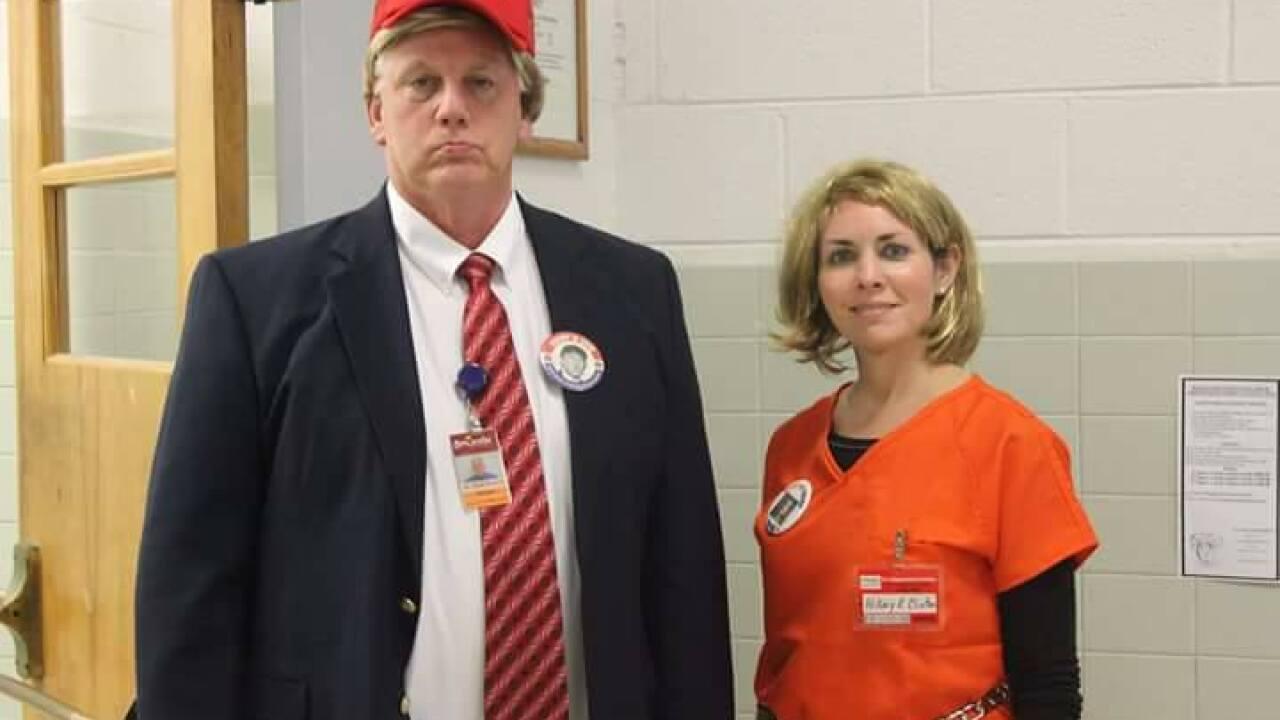 Virginia principal dresses as Trump, secretary as Clinton in prisongarb