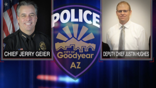 Goodyear Police Chief Jerry Geier and Deputy Chief Justin Hughes