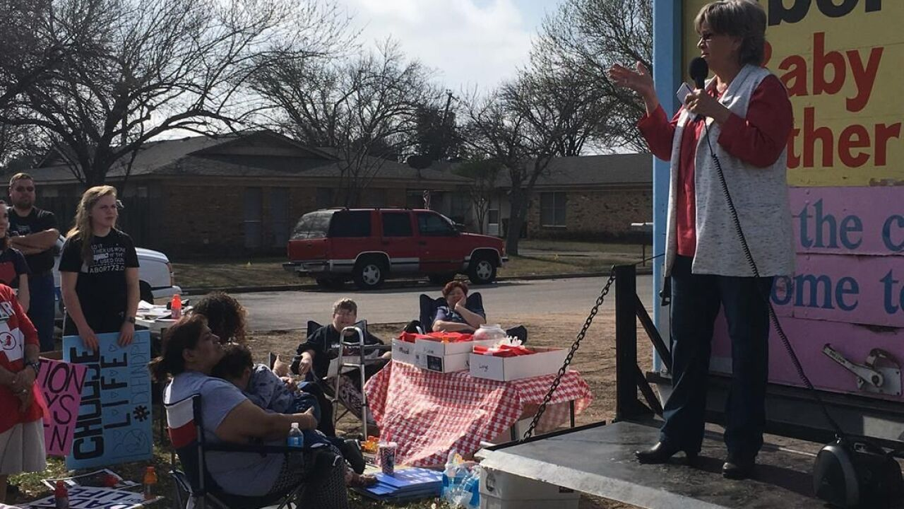 Pro-life protesters rally against abortion clinics