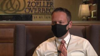 Palm Beach County Mayor Dave Kerner wears mask
