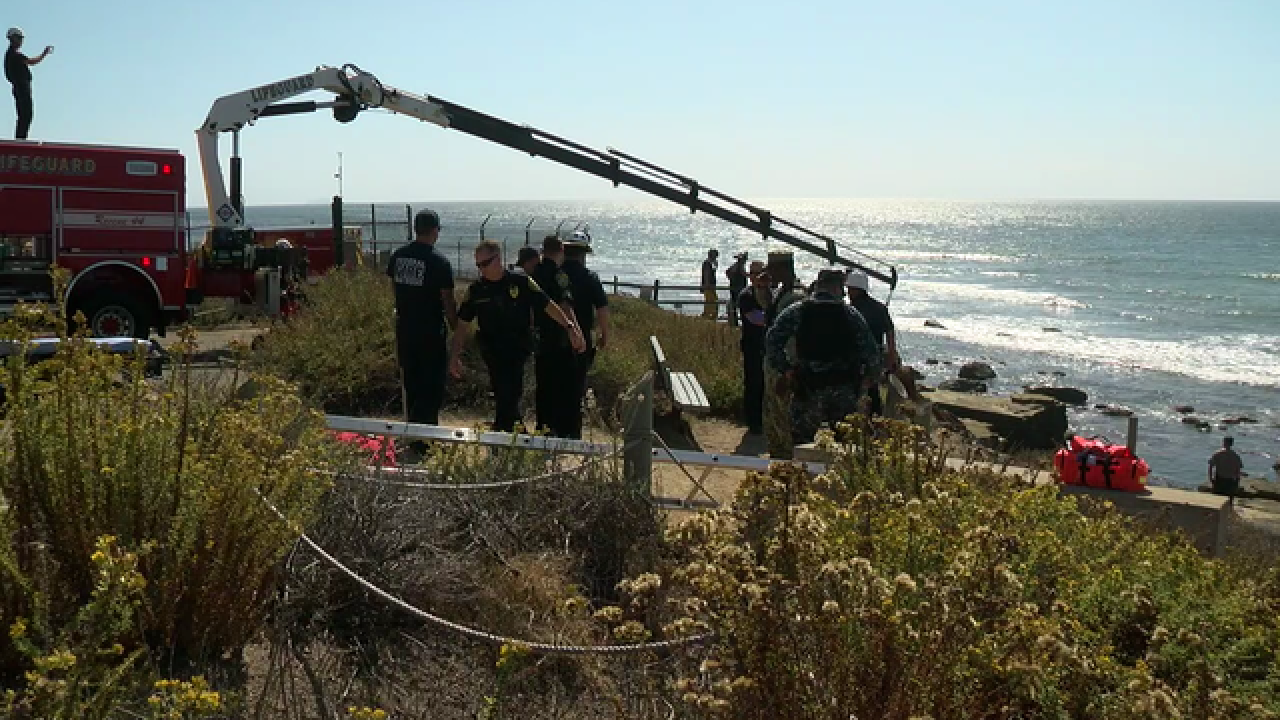 Lifeguards save woman from Point Loma cliffs