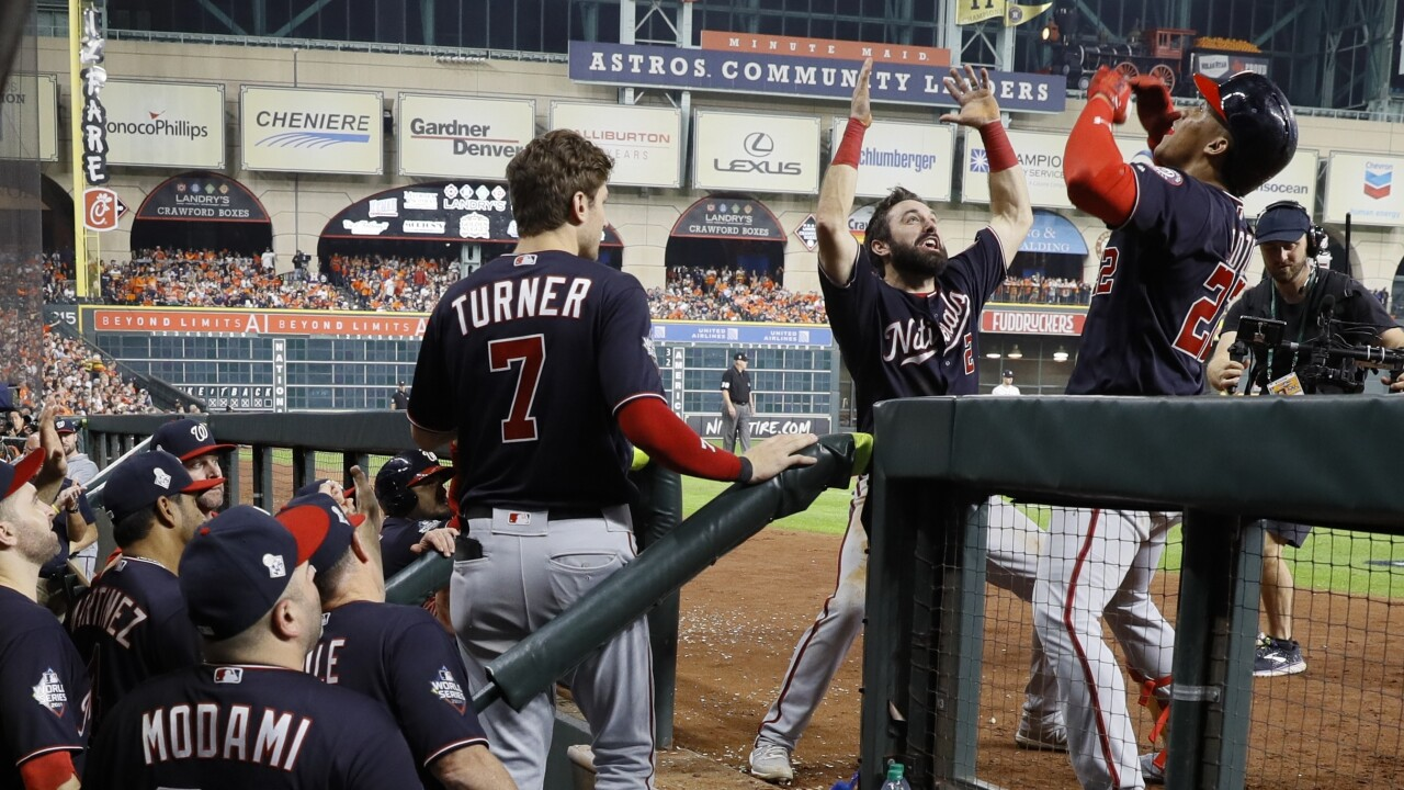 The Latest: Nats beat Astros 7-2, force Game 7