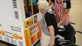 Retirement home creates indoor ice cream truck for residents