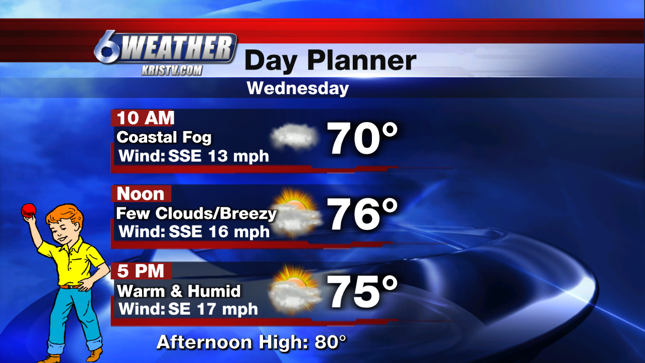 6WEATHER Day Planner - Wednesday 2/24/21