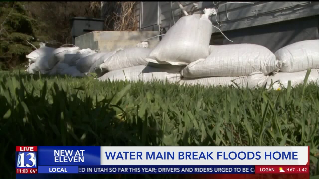 Two homes damaged after water main break in Heber City