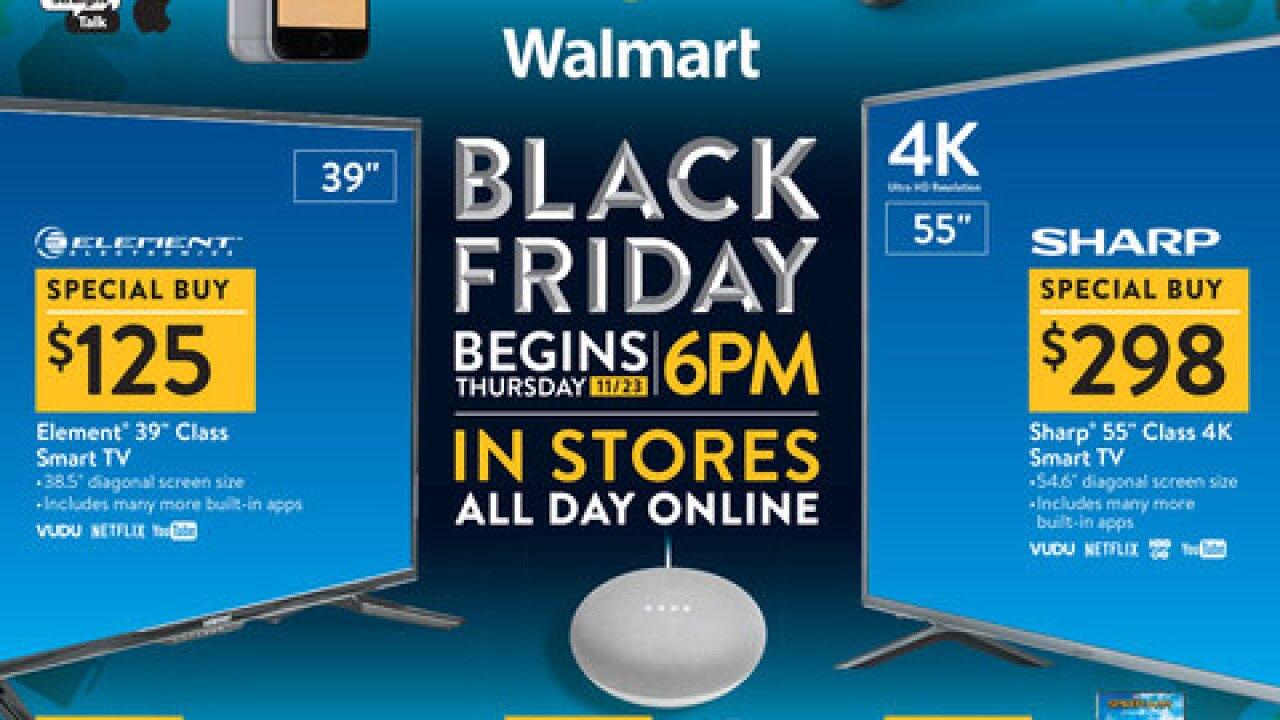 Walmart releases its top Black Friday deals