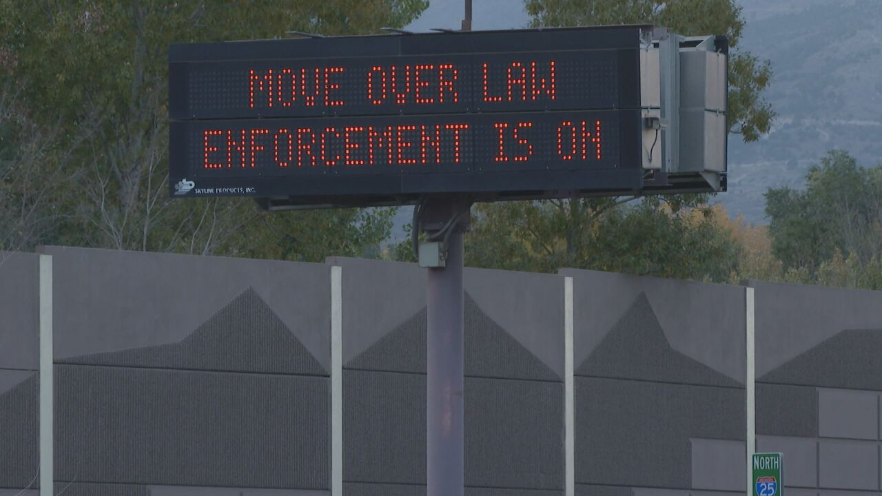 Move Over law enforcement on I-25