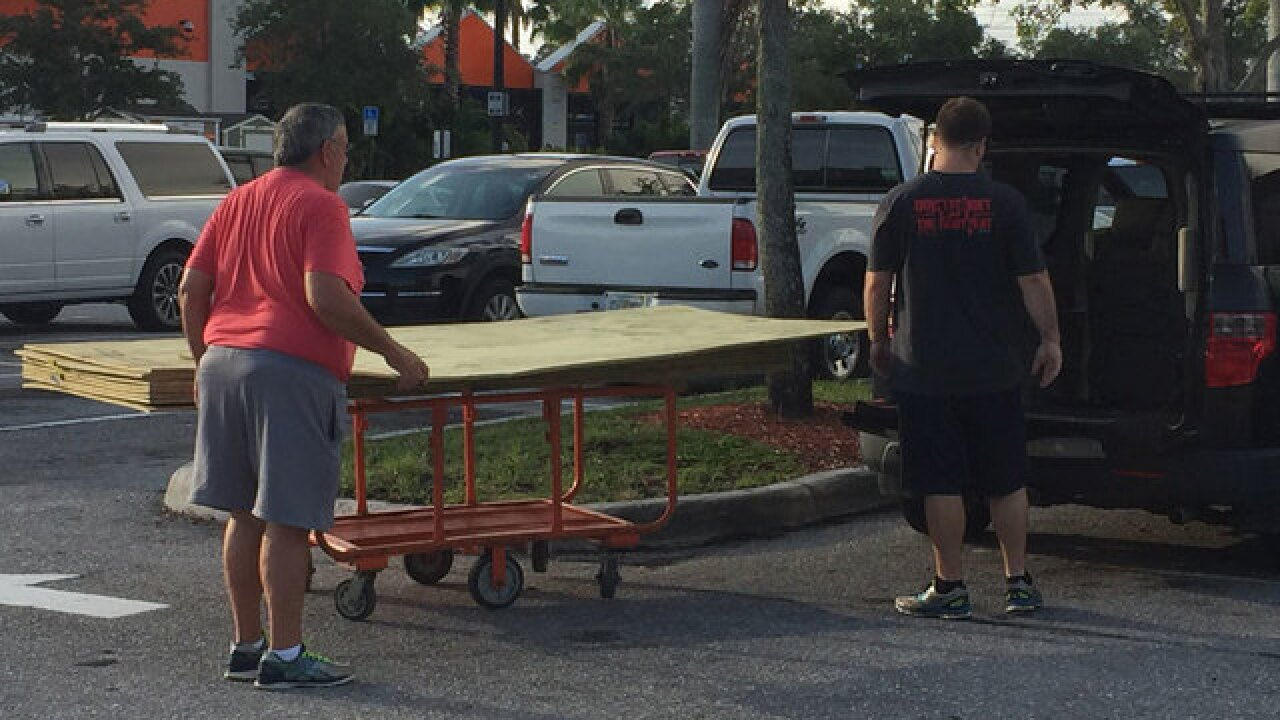Palm Beach County residents stock up on supplies as Hurricane Irma churns west