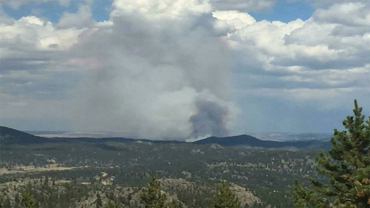 Wildfire burns in Red Feather Lakes area
