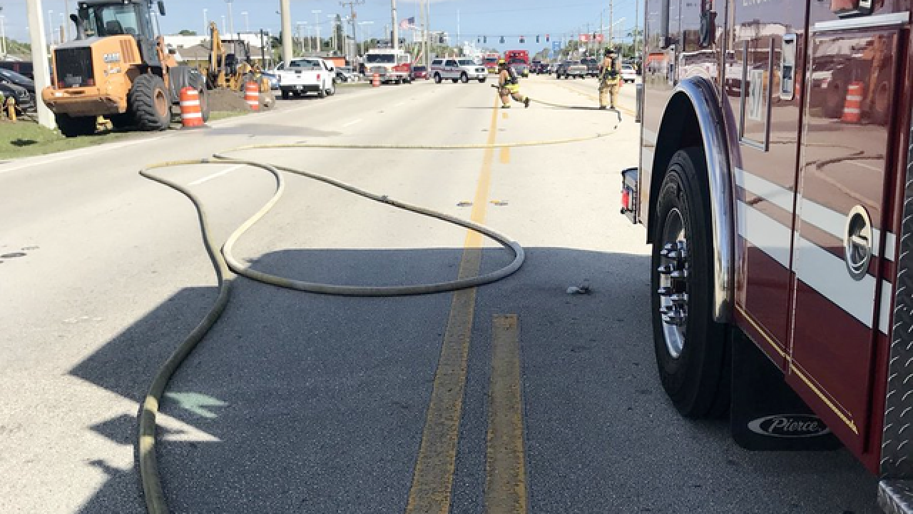 Gas leak capped on US 1 in St. Lucie County