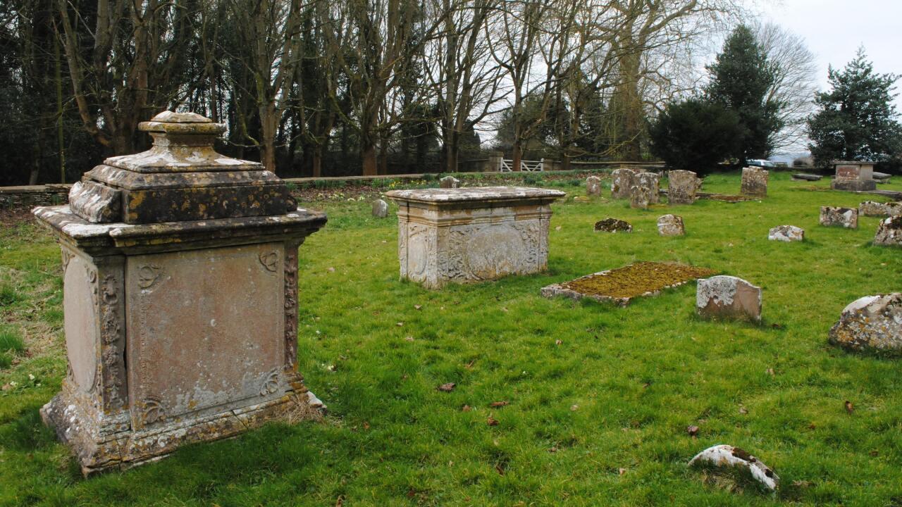 Gravestone in a graveyard