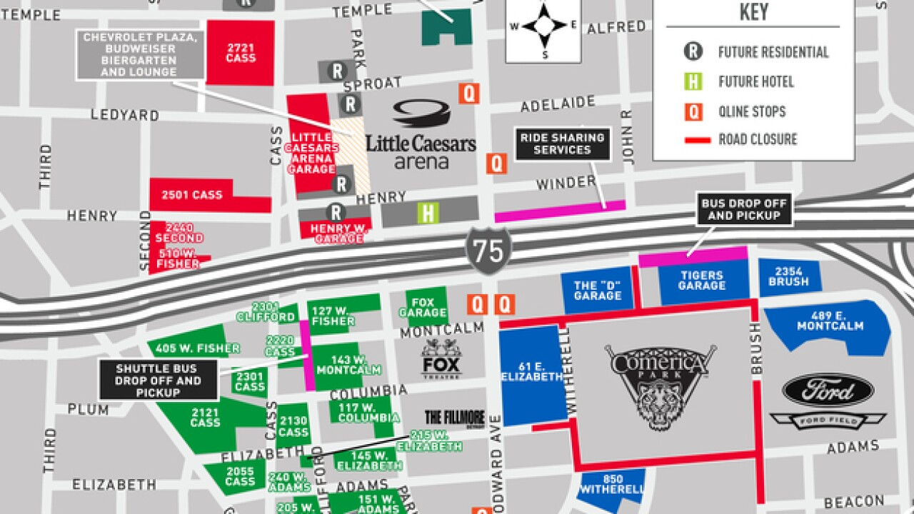 Detroit Tigers 2018 Opening Day: Parking and traffic closures