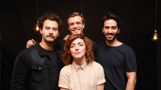 Indie rock singer/songwriter pronoun and her band