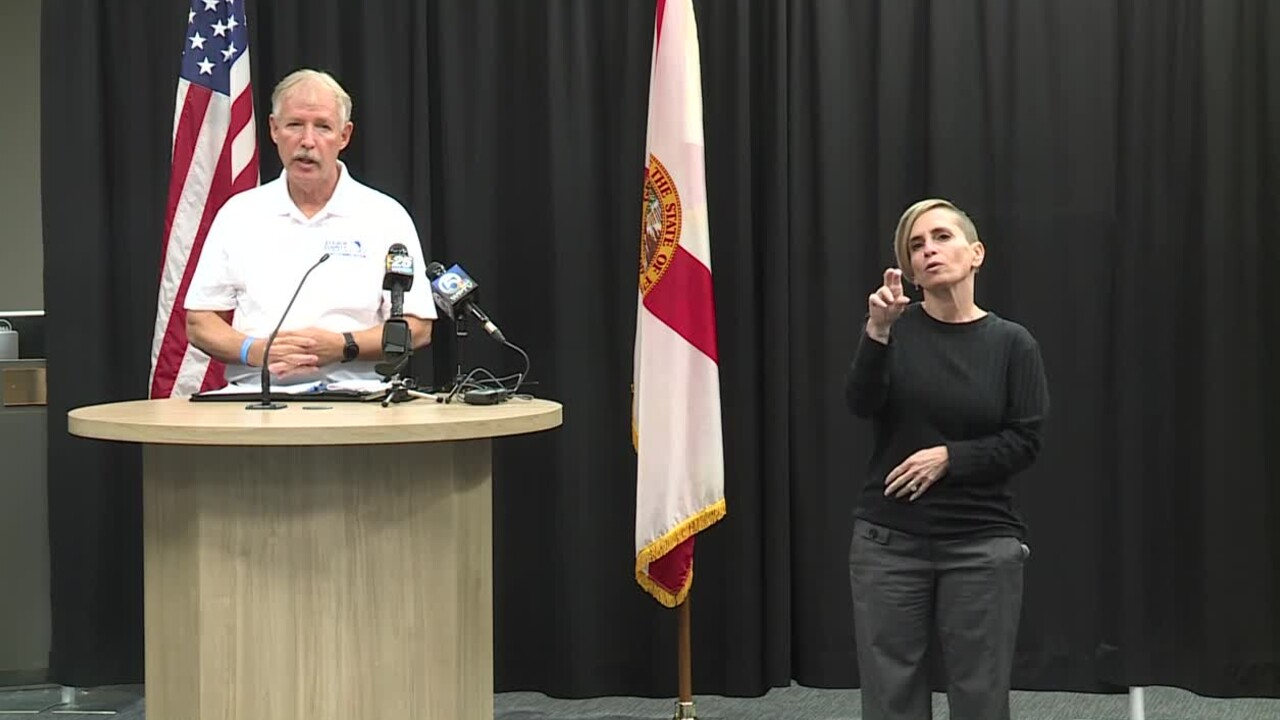 St. Lucie County Administrator Howard Tipton holds COVID-19 news conference on Jan. 8, 2021.
