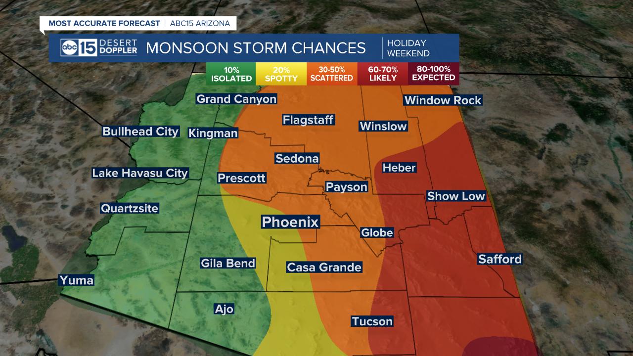 Monsoon Storm Chances