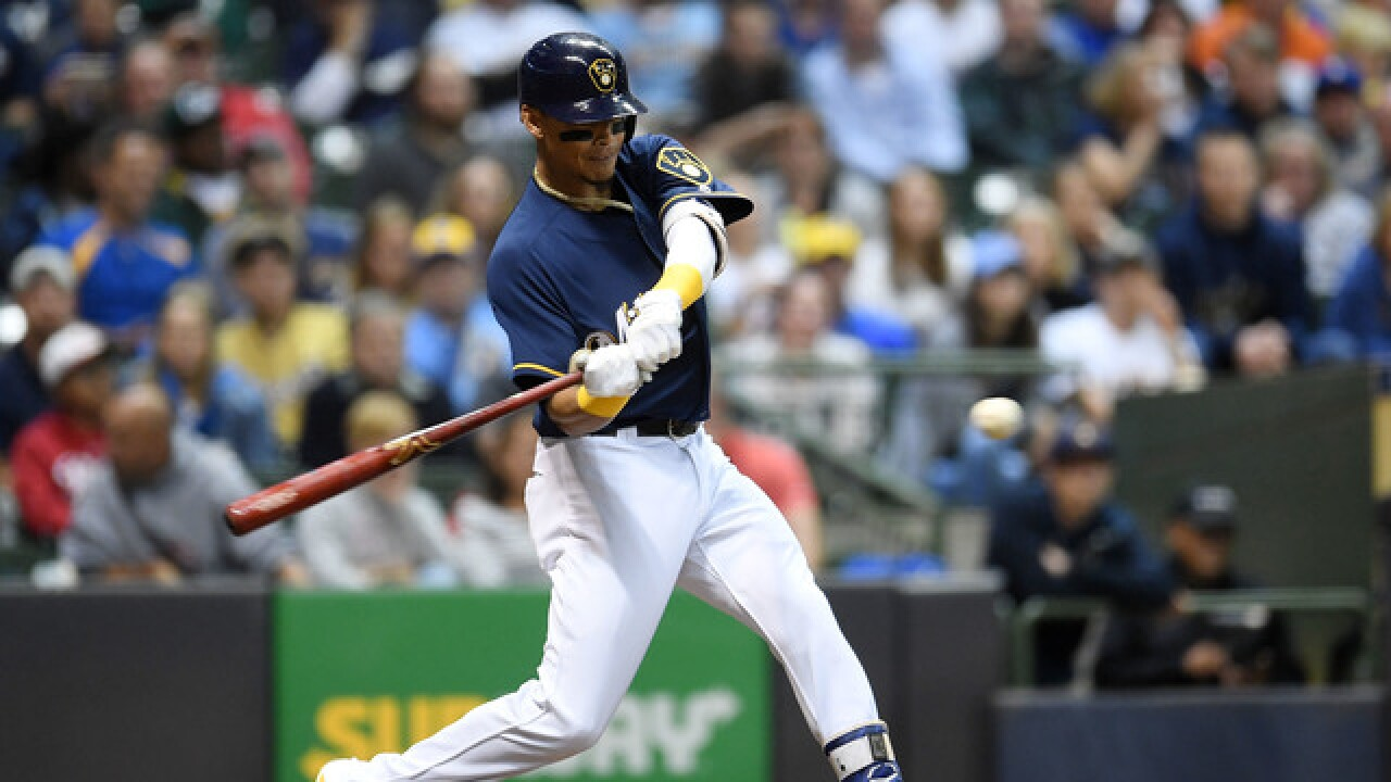 Arcia's single lifts Brewers over Padres 2-1 in 12 innings