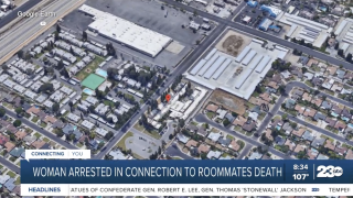 Woman arrested in connection to roommates death