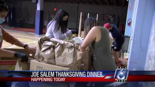 Joe Salem Thanksgiving Dinner preparations