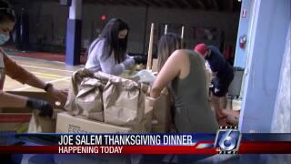 Joe Salem Thanksgiving Dinner preparations