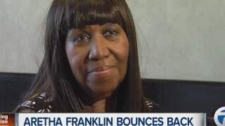 Aretha Franklin bounces back