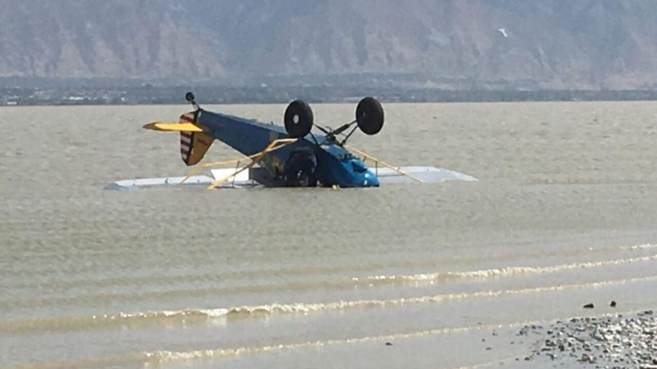 Small plane crashes in Utah Lake near SaratogaSprings