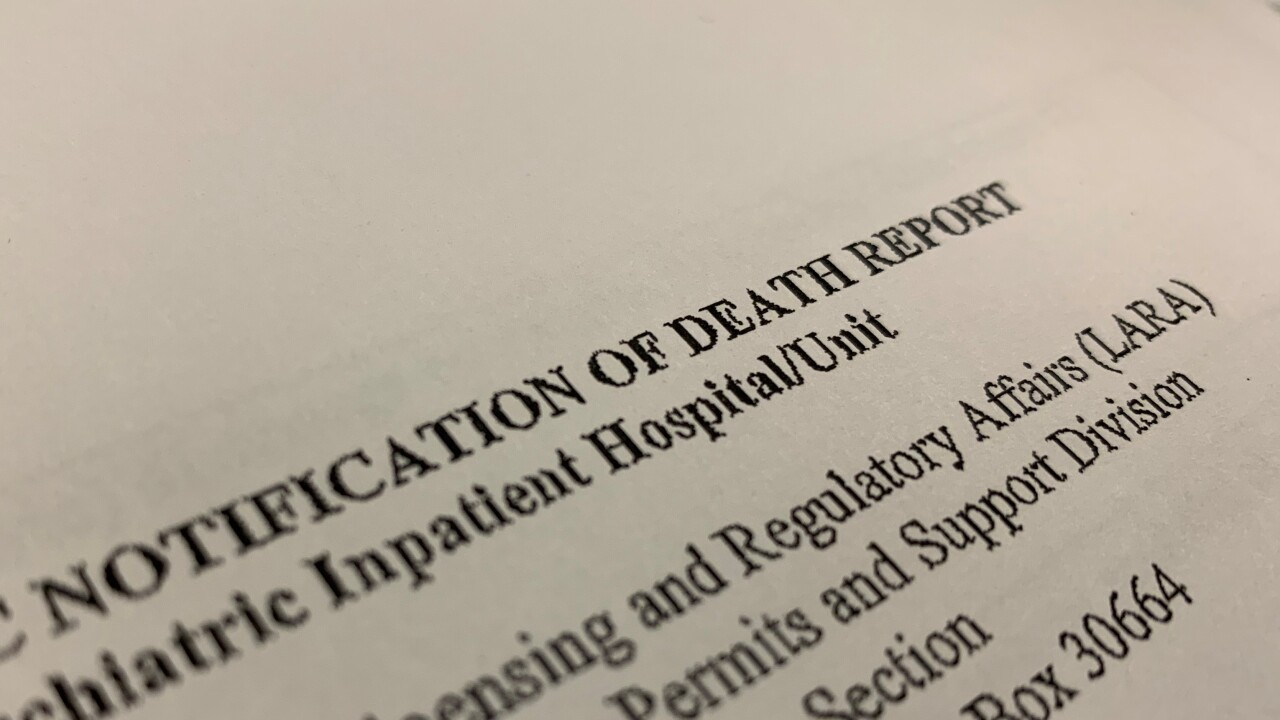 Notification of Death Report
