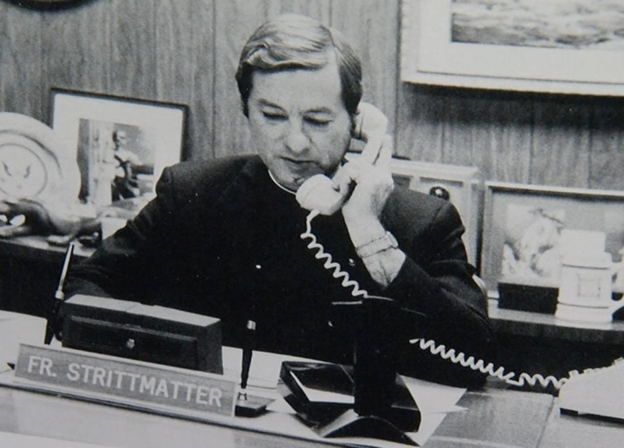 Lawrence Strittmatter, former Elder High School principal.