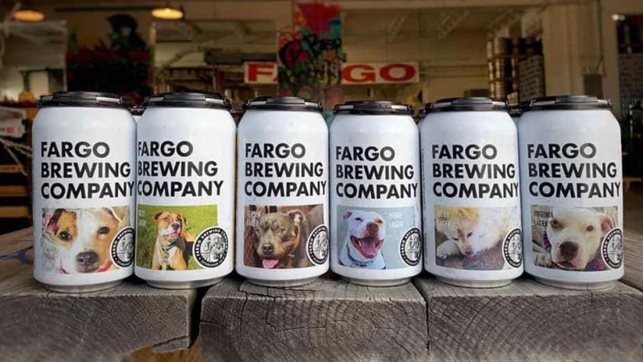 Brewery featuring adoptable dogs on beer cans to help find forever homes
