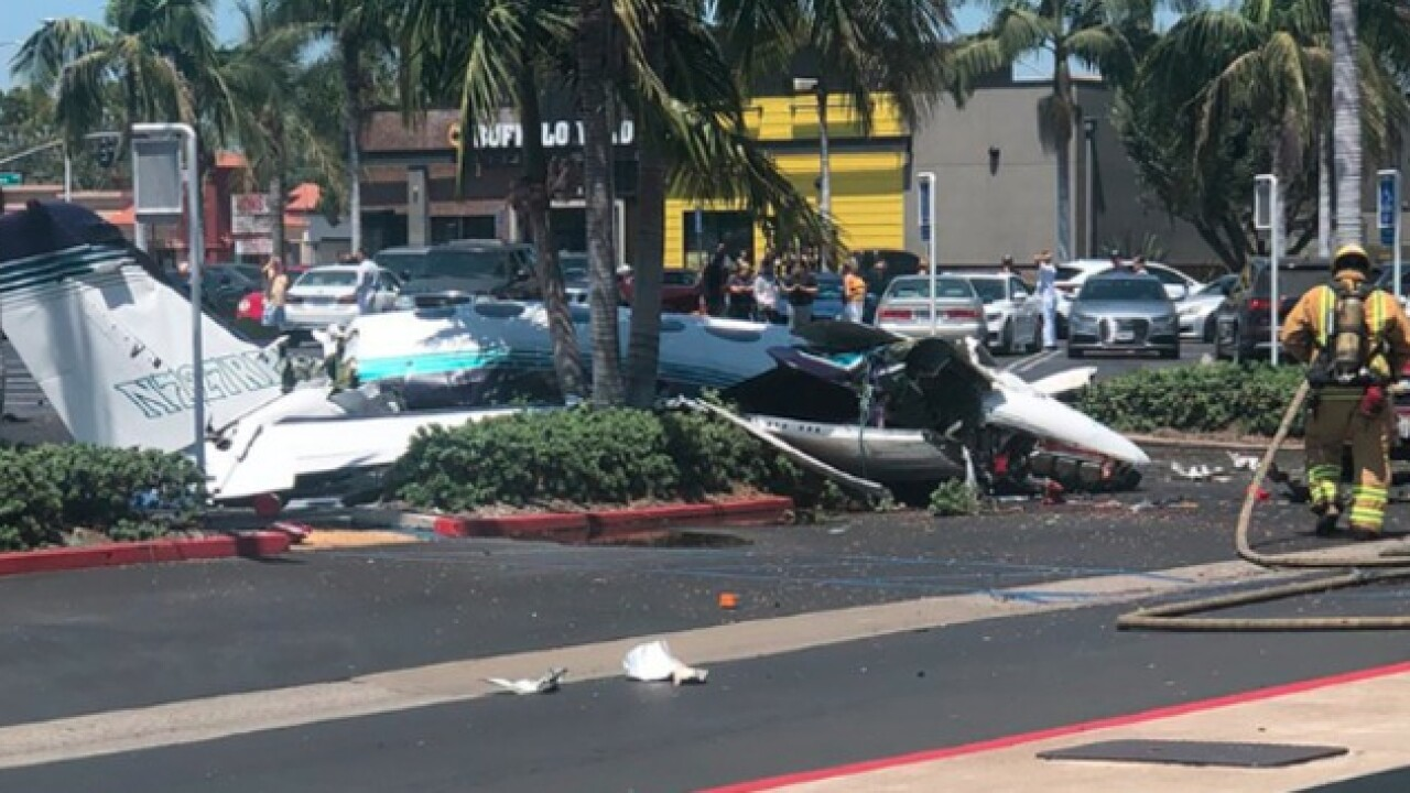Five killed after small plane crashes in Santa Ana