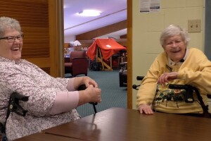 Dorothy and Odessa spend much of their time laughing together.