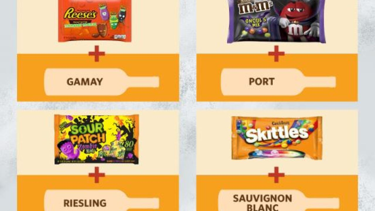 This guide finds the perfect wine pairing for Halloween candy