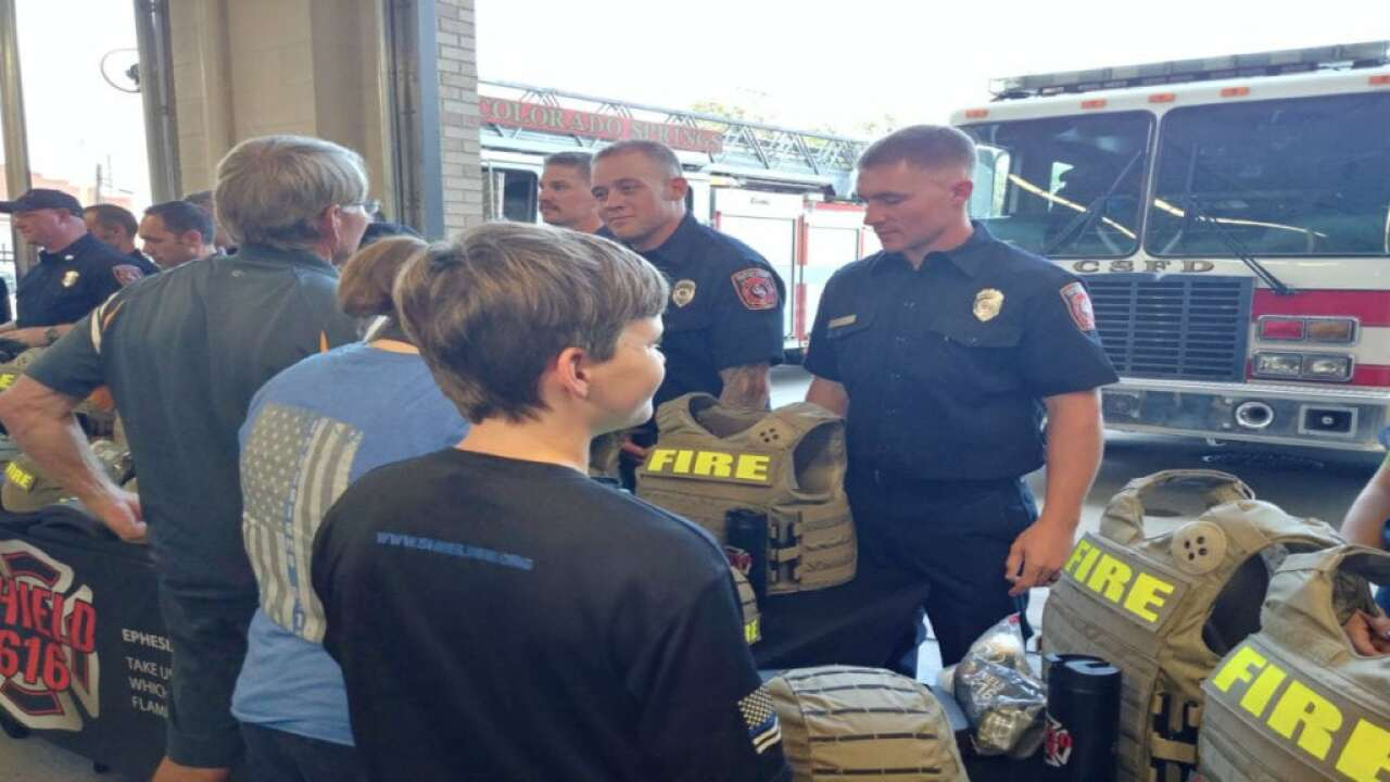 Shield 616 donates protective gear to Colorado Springs firefighters