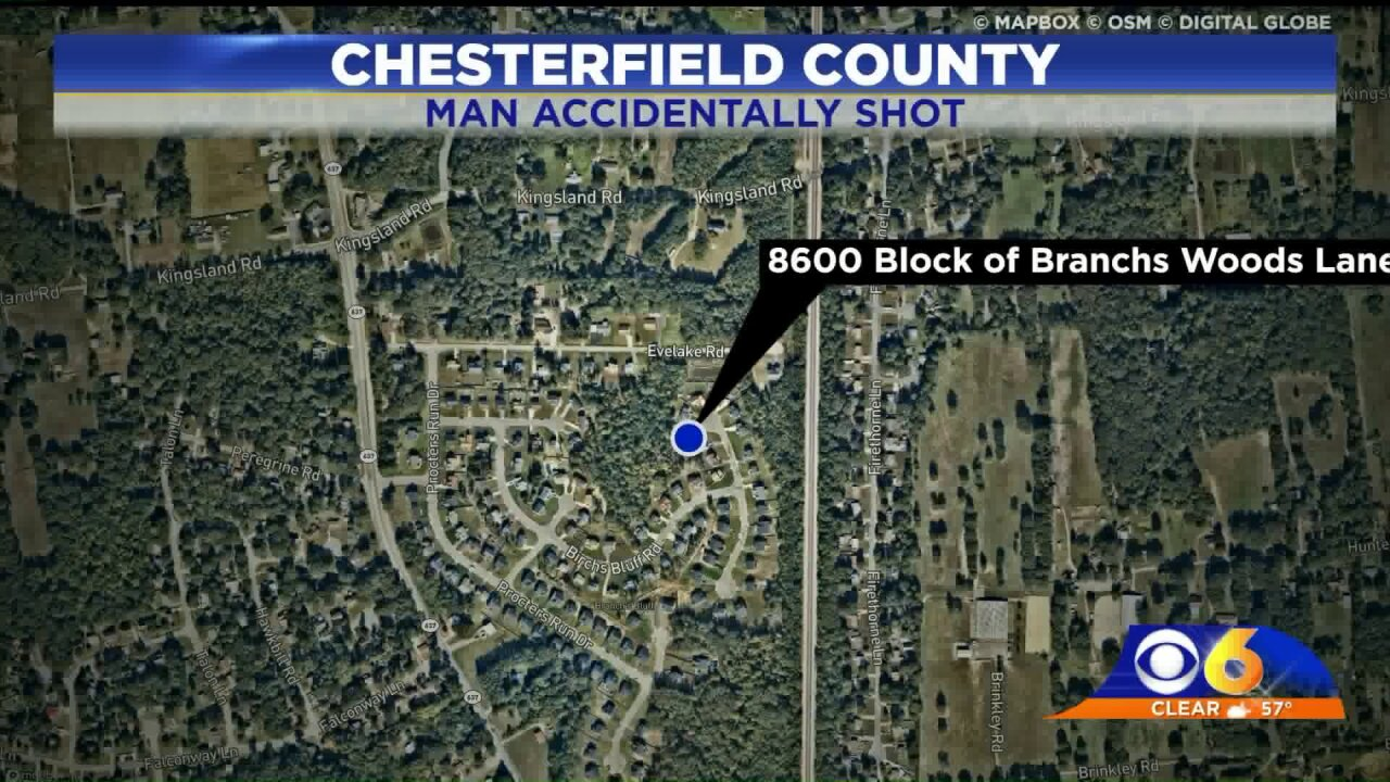 Man in critical condition following accidental shooting