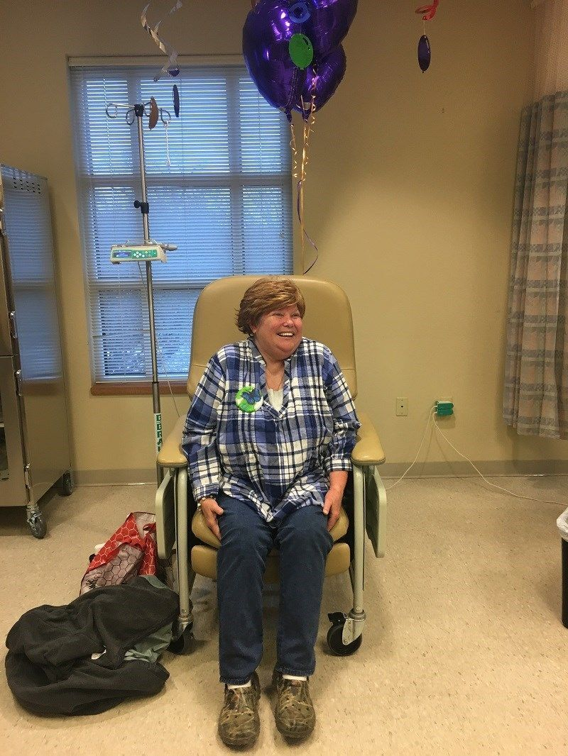 Woman who was told she had months to live has 100th chemo treatment four years later