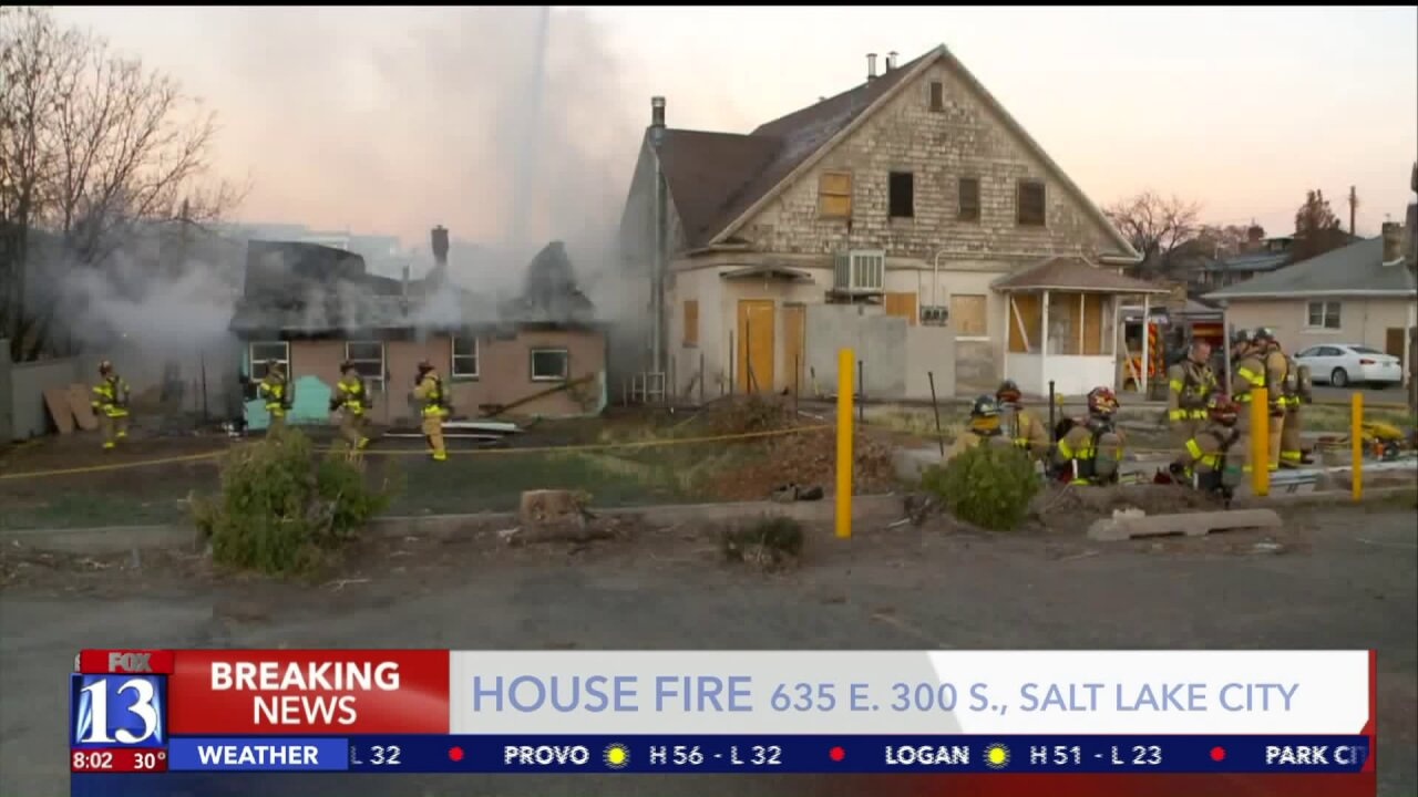 Crews respond to fire at abandoned home in Salt Lake City