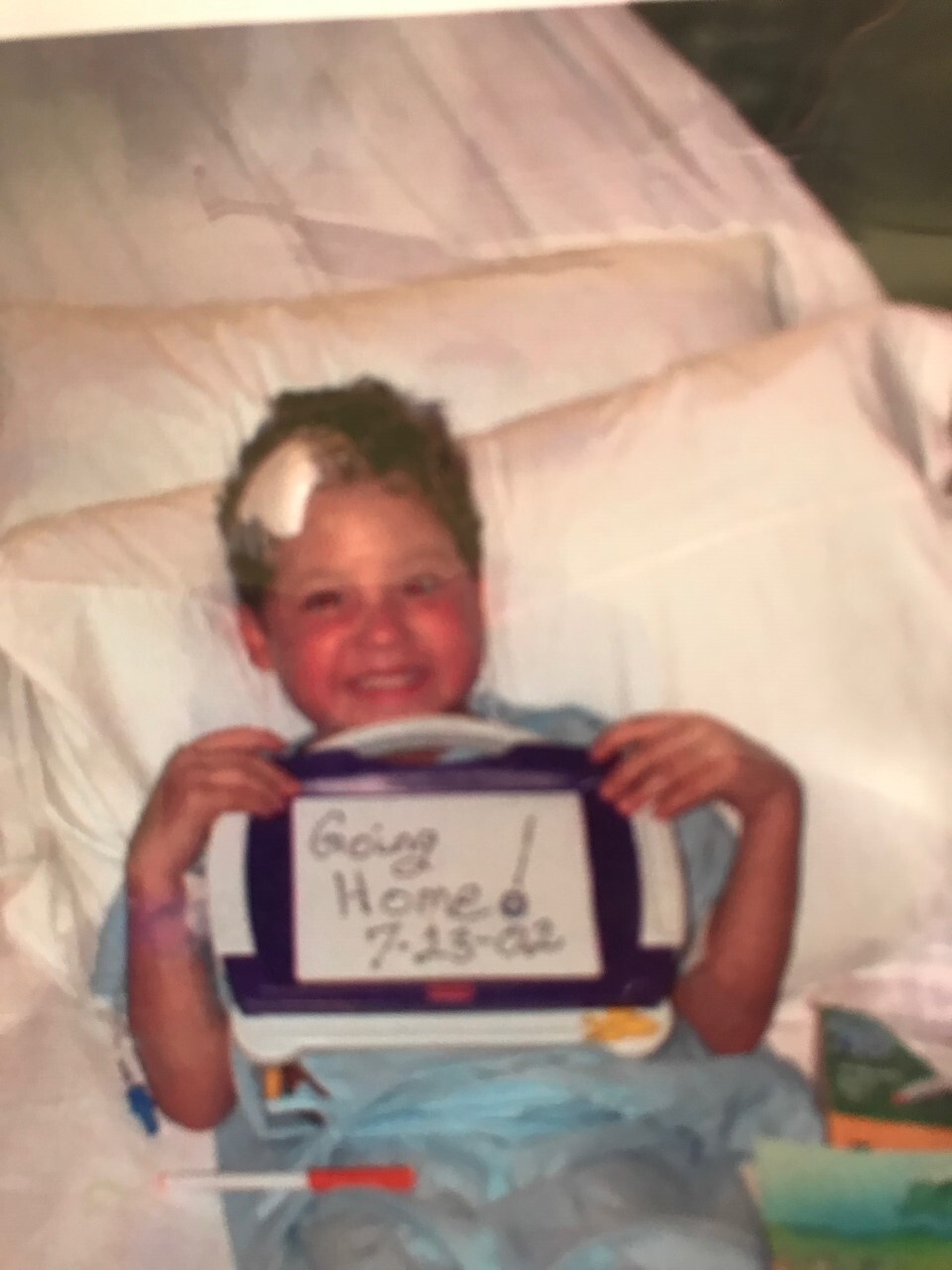 Camden Garcia at 5 years old in the hopsital