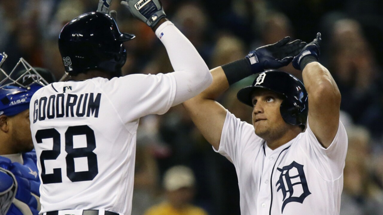Mikie Mahtook's homer leads Tigers to win in Victor Martinez's finale