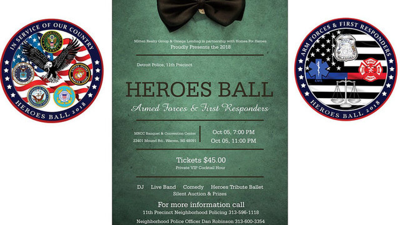 Detroit Police's 'Heroes Ball' to honor first responders and military members in Warren