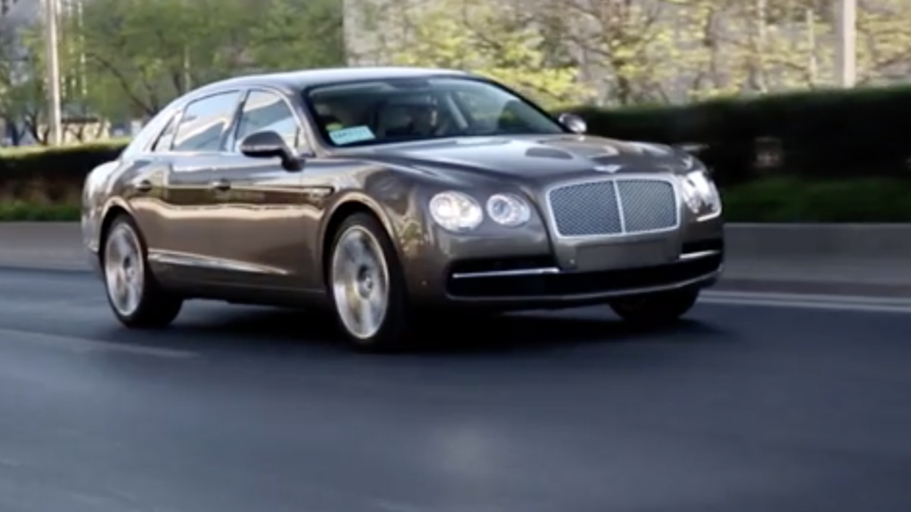 Bentley's new Flying Spur sedan can go 207 miles per hour