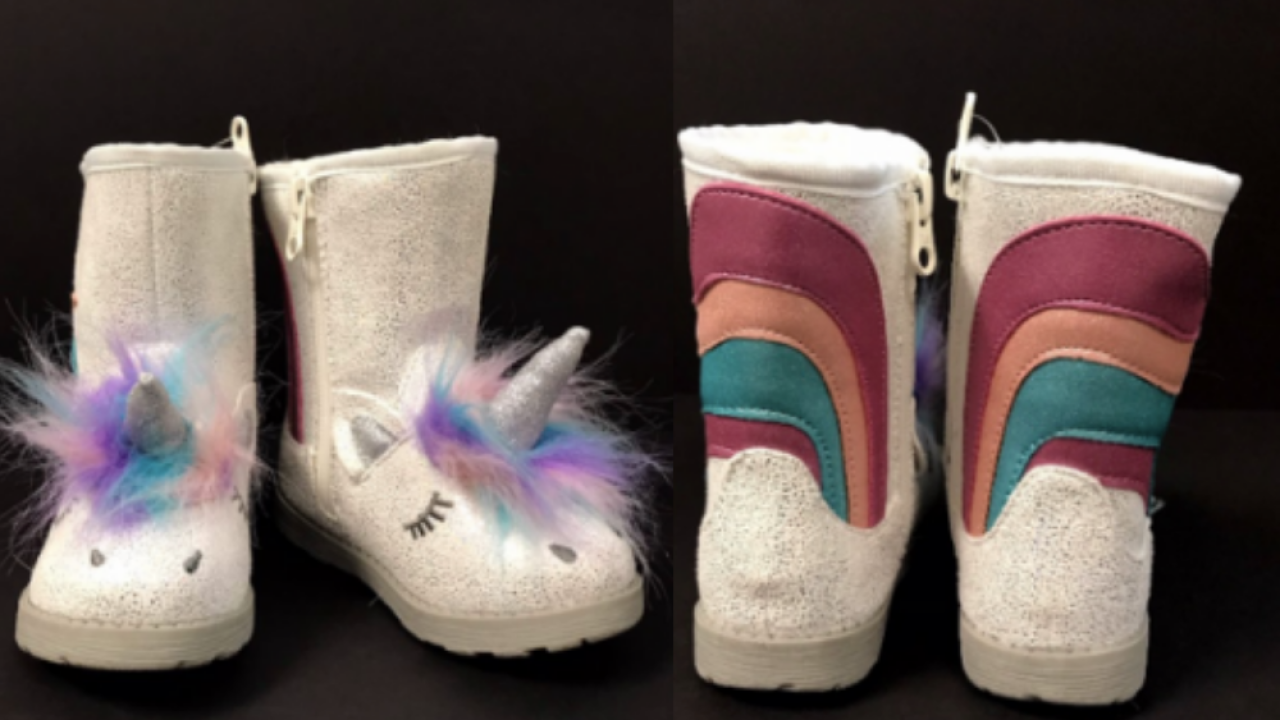 48d275d38121 Target recalls unicorn boots due to potential choking hazard