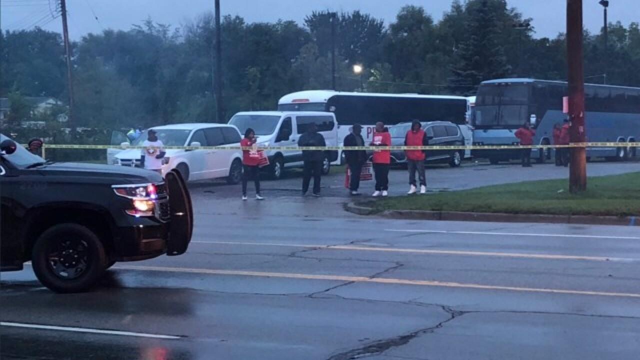 Vehicle hits protestors during strike in Flint