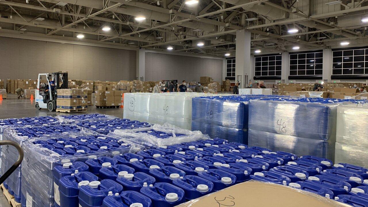 Salt Palace COVID-19 warehouse