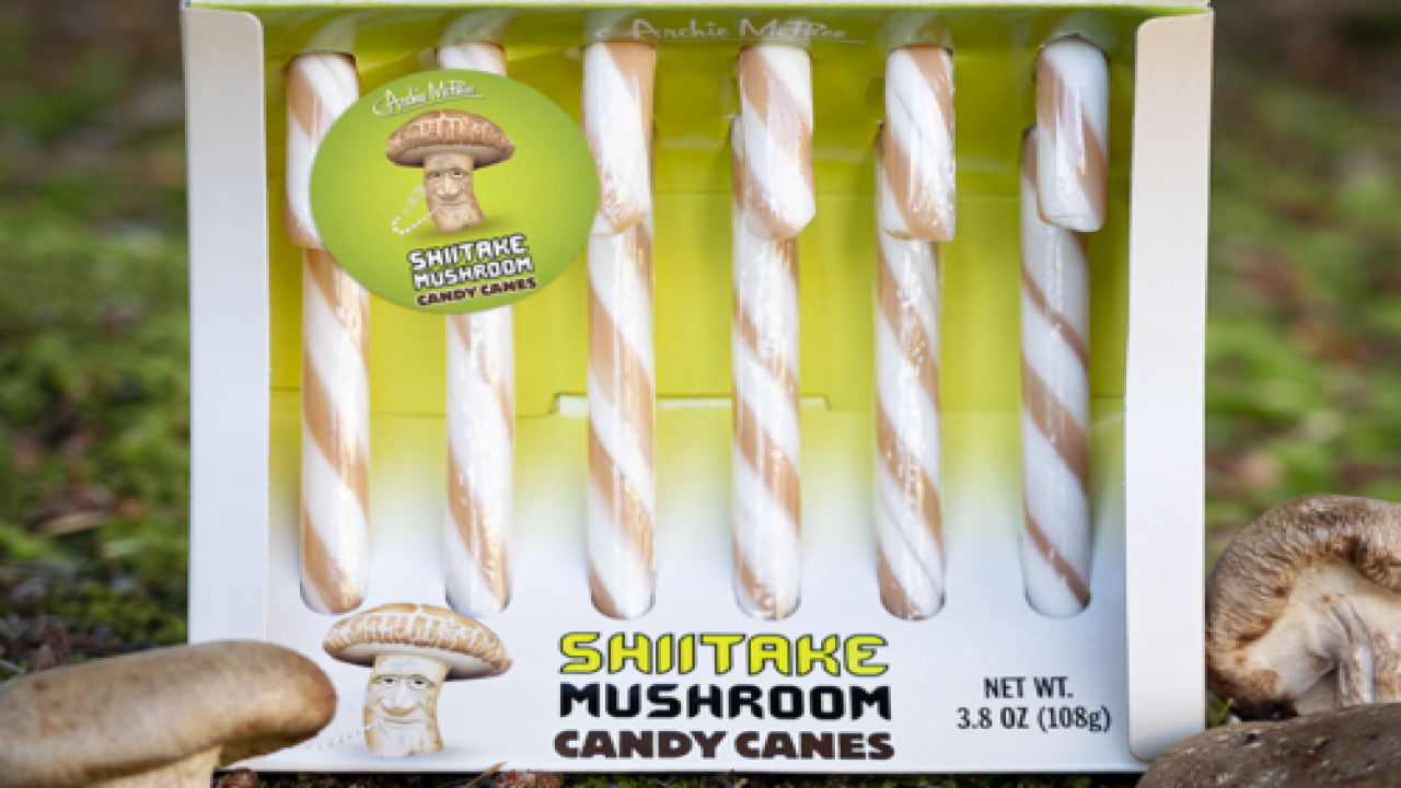 You Can Now Buy Shiitake Mushroom-flavored Candy Canes