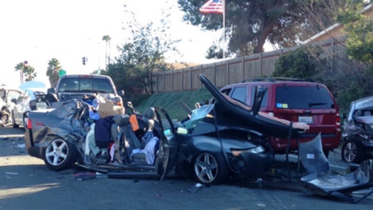 At least 5 hurt in 7-vehicle crash in Clairemont