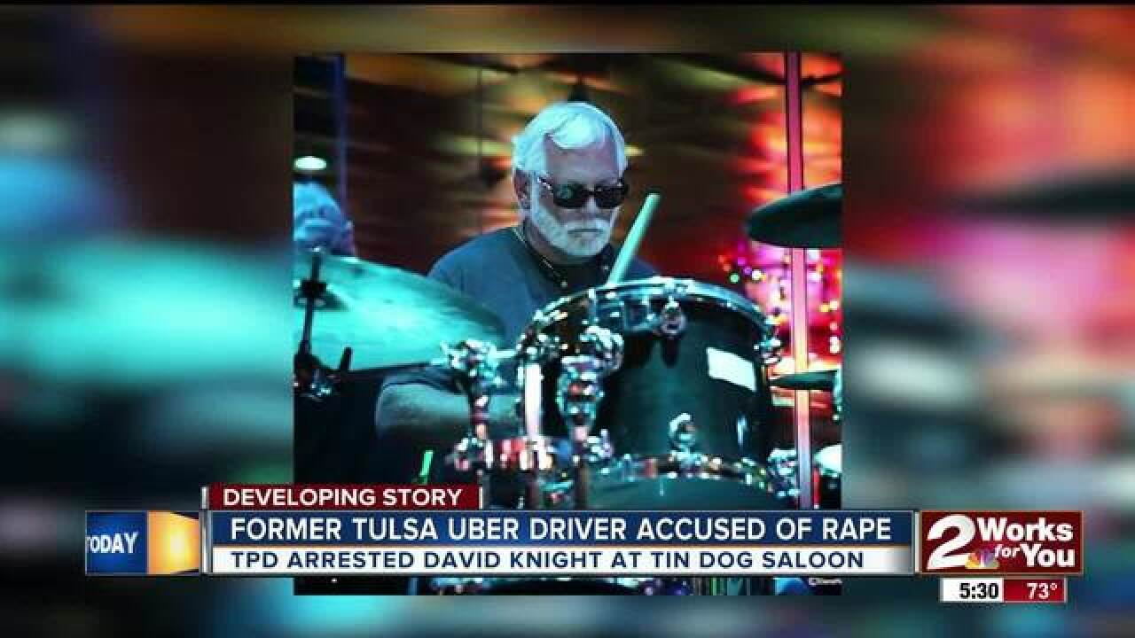 Former Tulsa Uber driver accused of rape