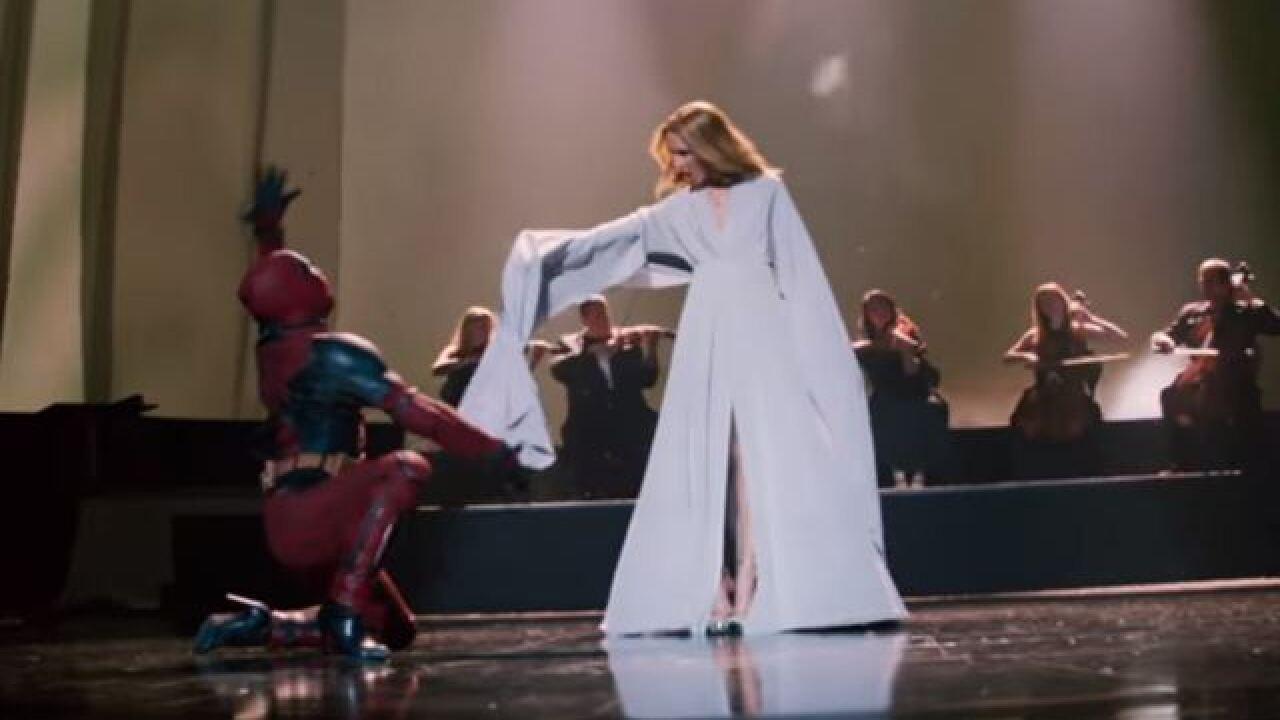 Deadpool dances in new Celine Dion music video