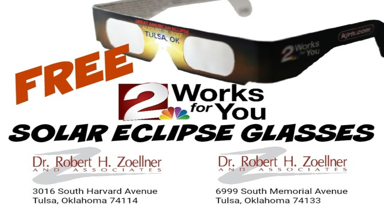 2 Works For You Free Solar Eclipse Glasses Available At Two Tulsa Dr